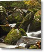 Smokies Waterfall Metal Print