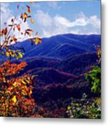Smoky Mountain Autumn View Metal Print