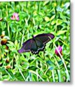 Smoky Mountain Butterfly  Metal Print