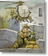 Sniper Military Tribute Metal Print