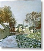Snow At Argenteuil Metal Print by Claude Monet