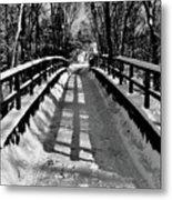 Snow Covered Bridge Metal Print by Daniel Carvalho