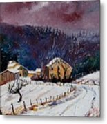 Snow In Sechery Metal Print