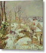 Snow Scene Metal Print by Camille Pissarro