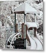 Snow Slide Metal Print