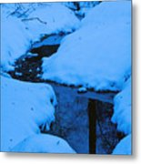 Snow Stream Metal Print