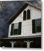 Snowstorm In From The Sound Metal Print