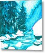 Snowy Creek Banks Metal Print by Seth Weaver