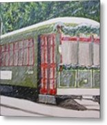 Snowy Day In New Orleans Metal Print