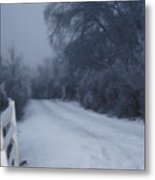 Snowy Evening Metal Print