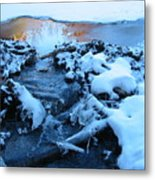 Snowy Reflections Metal Print