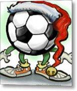Soccer Christmas Metal Print