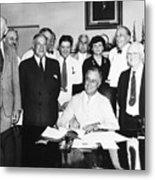 Social Security Act, 1935 Metal Print