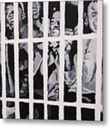Some Of The 210 Demonstrators Jailed Wave From Their Cell 1964 Metal Print
