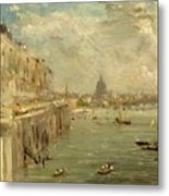 Somerset House Terrace From Waterloo Bridge Metal Print by John Constable