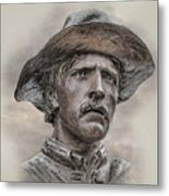 Son Of The Confederacy Portrait Metal Print