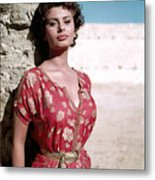 Sophia Loren, 1950s Metal Print by Everett