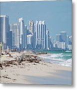 South Beach Baby Metal Print