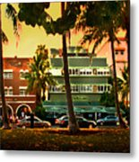 South Beach Ocean Drive Metal Print