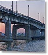 South Capitol Street Bridge Over Anacostia River In Washington Dc Metal Print by Brendan Reals