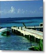 South Caye Belize Boat Dock Metal Print