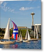 Space Needle Seattle Metal Print
