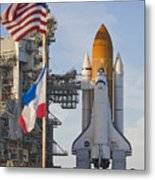 Space Shuttle Atlantis Sitting Metal Print by Mike Theiss