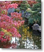 Sparkling Autumn Reflection Metal Print