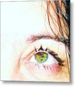 Speckled Eyes Metal Print
