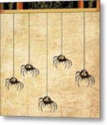 Spiders For Halloween Metal Print