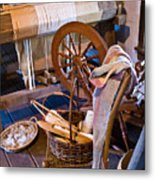 Spinning And Weaving Metal Print