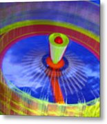 Spinning Fair Ride Metal Print