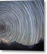 Spinning Stars Above Himalayas Metal Print by Anton Jankovoy
