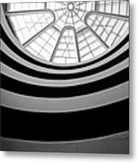 Spiral Staircase And Ceiling Inside The Guggenheim Metal Print