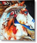 Spirit Indian War Horse Metal Print by Marcia Baldwin