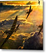 Spitfire Attack Metal Print by Chris Lord