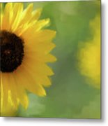 Splash Of Yellow Metal Print