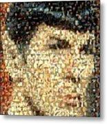 Spock Star Trek Mosaic Metal Print by Paul Van Scott