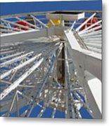 Spokes Of A Ferris Wheel Metal Print