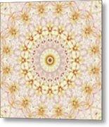 Spring Fantasy Floral Mandala Metal Print