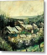 Spring In The Ardennes Belgium Metal Print