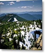 Spring In The Cascades Metal Print