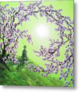 Spring Morning Meditation Metal Print