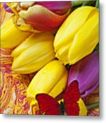 Spring Tulips Metal Print by Garry Gay