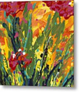Spring Tulips Triptych Panel 1 Metal Print