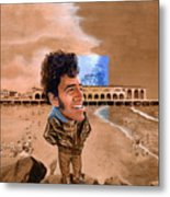 Springsteen On The Beach Metal Print by Ken Meyer jr