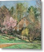 Springtime On Longhill Metal Print