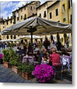 Square Amphitheater In Lucca Italy Metal Print