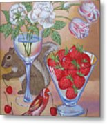 Squirrel Cherry .2006 Metal Print