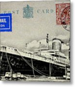 Ss United States - Post Card Metal Print